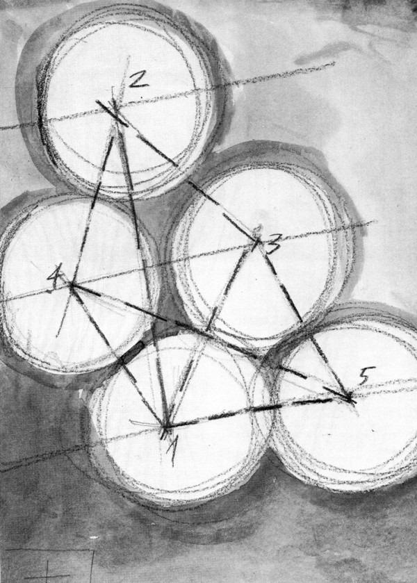 Amalia Del Ponte, Modello non riproducibile in scala esatta (disegno), 1980