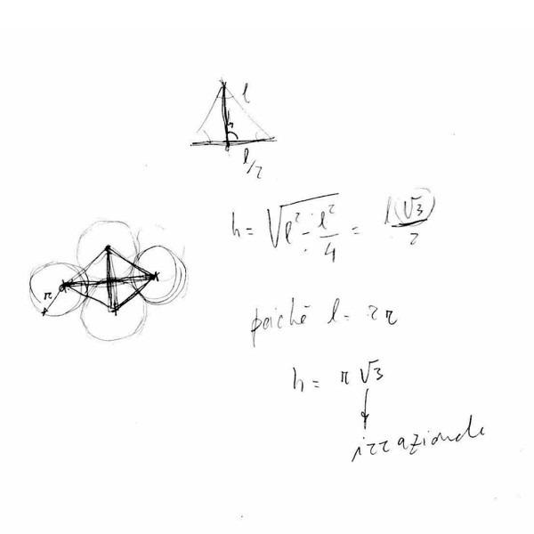 John Arioni, Calcoli per l'opera di Amalia Del Ponte, Modello non riproducibile in scala esatta, 1980