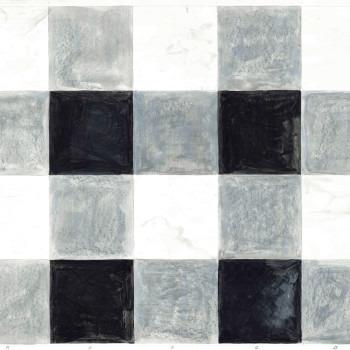 Amalia Del Ponte, Villa Bocca, 1983, Torino,  studio preparatorio per pavimento a intarsio di marmo