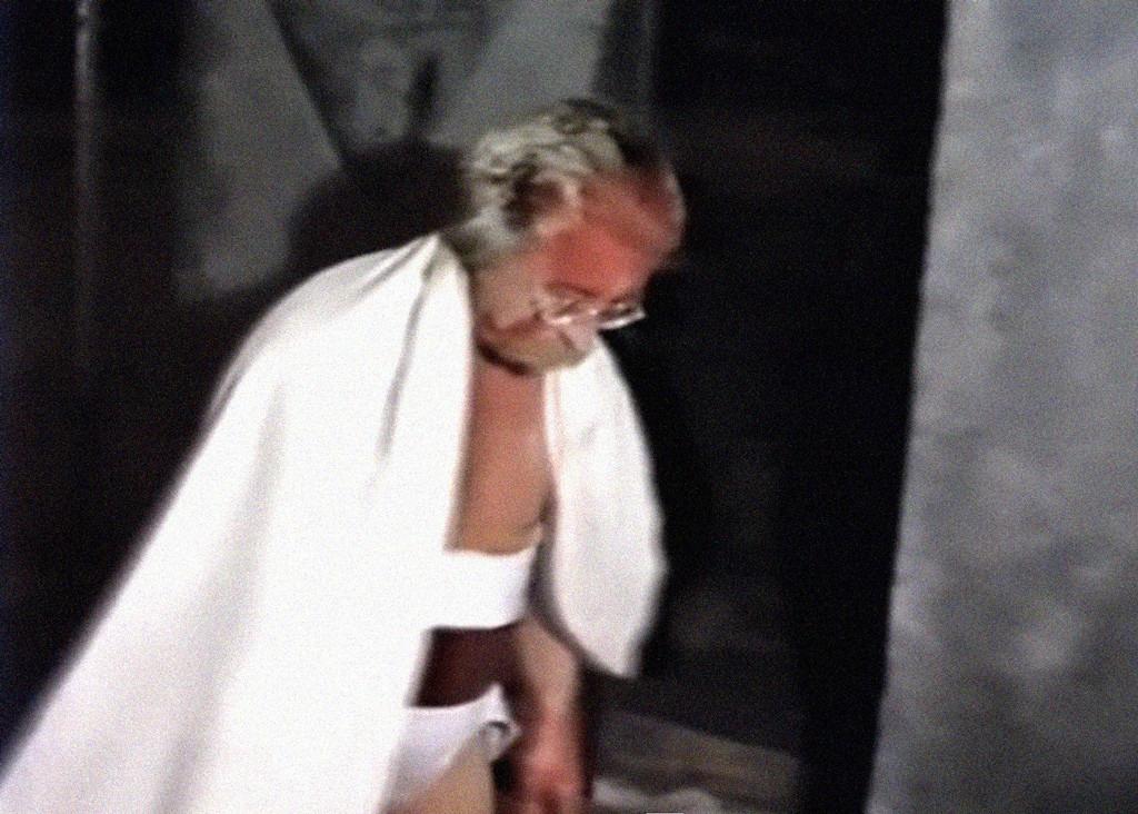 Il pianeta sognato, 1989, Giardini Estensi di Varese, performance Davide Mosconi