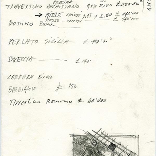 Amalia Del Ponte 1992 Ipotono studio marmo
