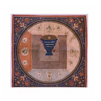 Amalia Del Ponte, Grafica per MERU, 2013, tappeto cinese Dinastia Yuan (1272-1368)