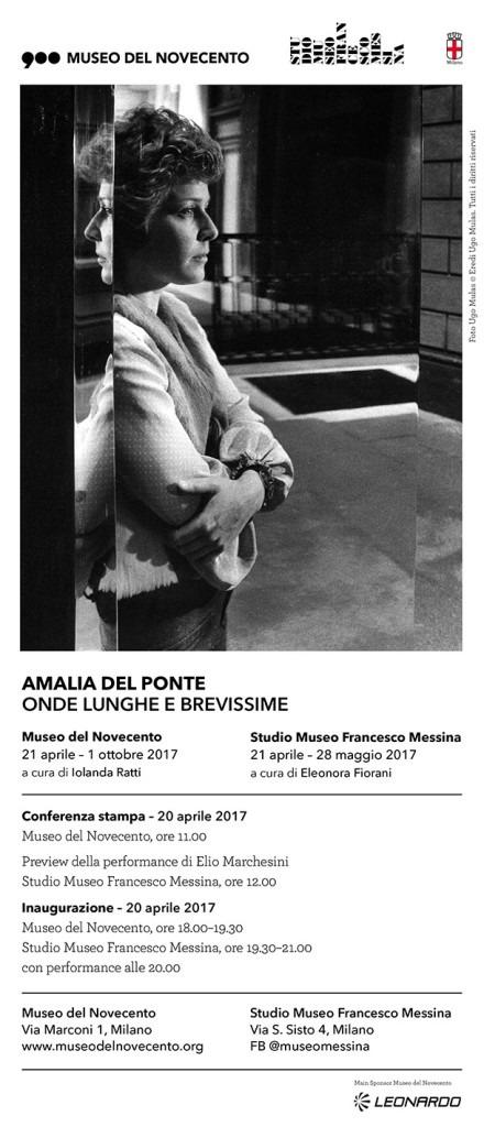 Amalia Del Ponte, Onde lunghe e brevissime, Museo del Novecento e Studio Museo Francesco Messina, Milano 2017