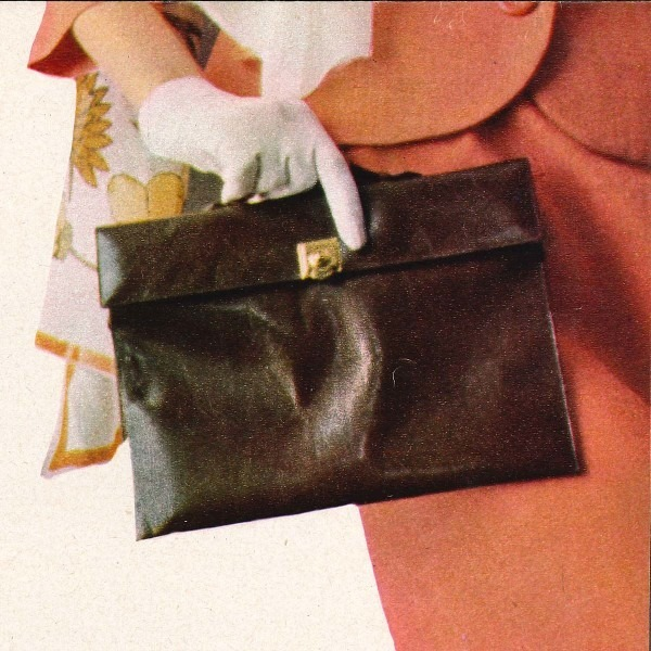 Amalia Del Ponte, Piccola cartella in saffiano, colori all'anilina, 1965
