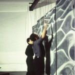 Amalia Del Ponte 1993 Acqua nell'acqua Galleria Belvedere Milano performance Ben Omar
