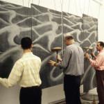 Amalia Del Ponte 1995 Acqua nell'acqua Biennale di Venezia performance Guido Facchin