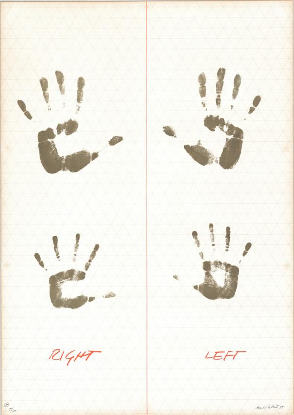 Amalia Del Ponte, grafica per cartella realizzata in occasione dell'apertura della Libreria delle Donne, 1975